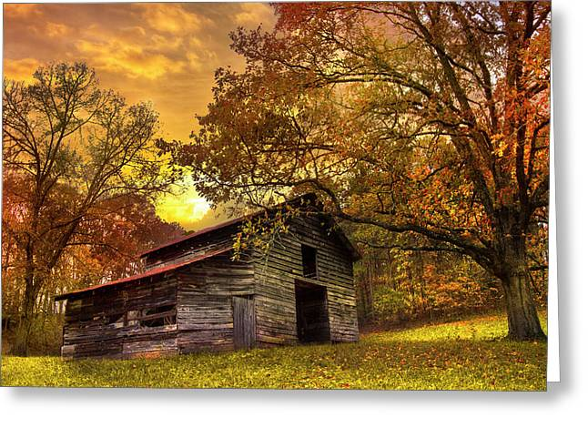 Greeting Card featuring the photograph Chill Of An Early Fall by Debra and Dave Vanderlaan