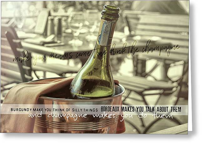 Chill To Taste Quote Greeting Card by JAMART Photography
