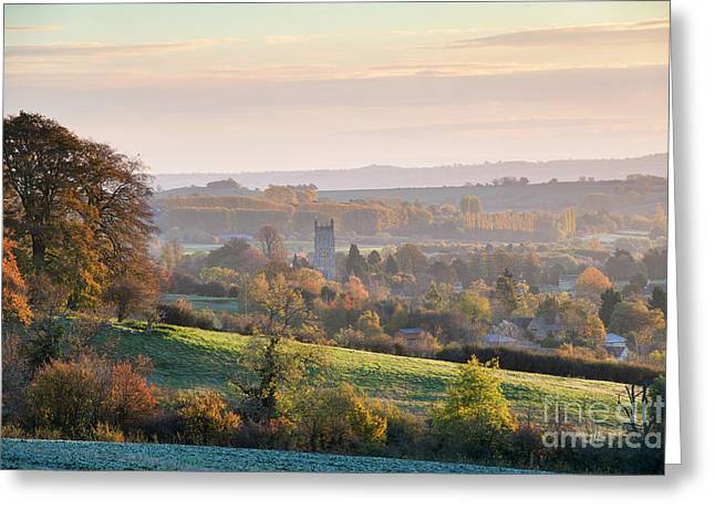 Chipping Campden Autumn Morning Cotswolds Greeting Card by Tim Gainey