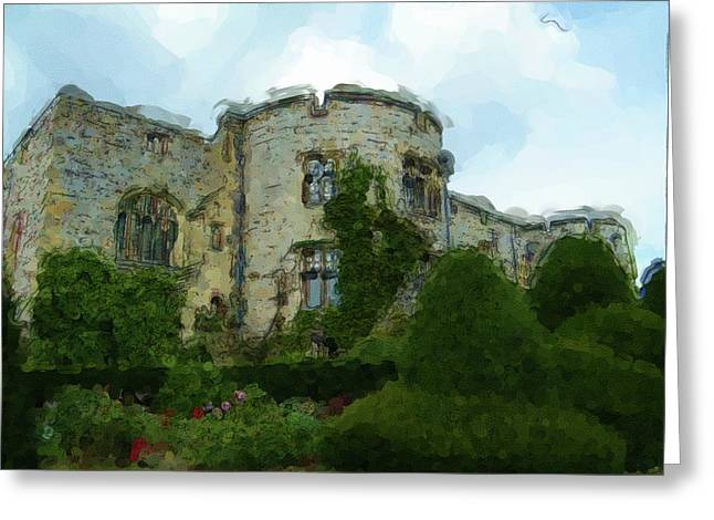 Chirk Castle Painting Greeting Card