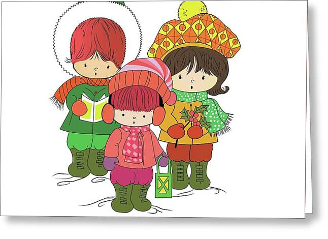 Christmas Angels Greeting Card