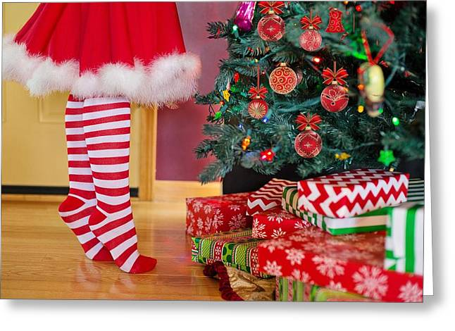Greeting Card featuring the photograph Christmas Presents by Top Wallpapers