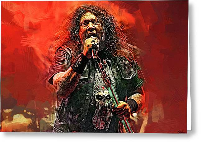 Chuck Billy, Testament Greeting Card