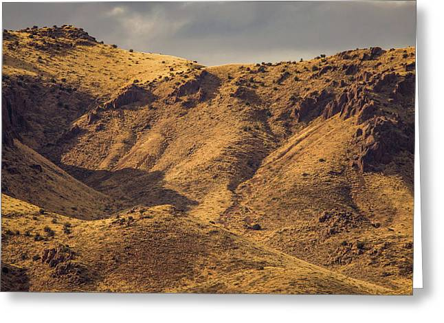 Greeting Card featuring the photograph Chupadera Mountains by Jeff Phillippi