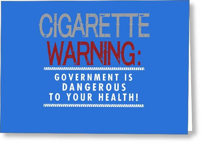 Cigarette Warning Greeting Card