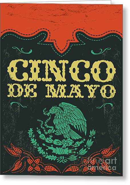 Cinco De Mayo - Mexican Holiday Vintage Greeting Card