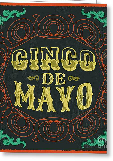 Cinco De Mayo - Vintage Mexican Greeting Card