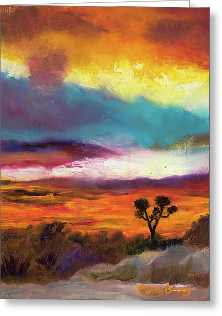 Cindy Beuoy - Arizona Sunset Greeting Card