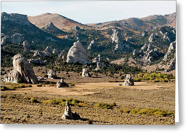 Circle Creek Basin In City Of Rocks Greeting Card by William Mullins