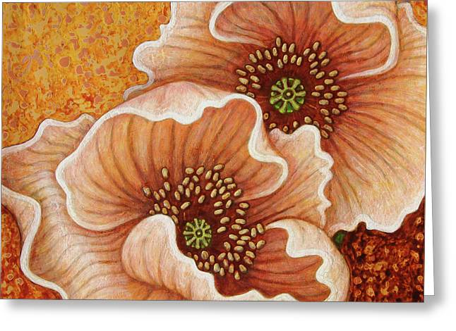 Greeting Card featuring the painting Citrine Glow by Amy E Fraser