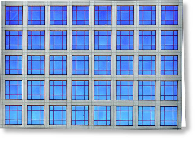 City Grids 60 Greeting Card