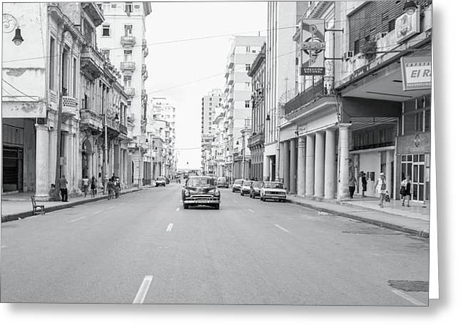 City Street, Havana Greeting Card