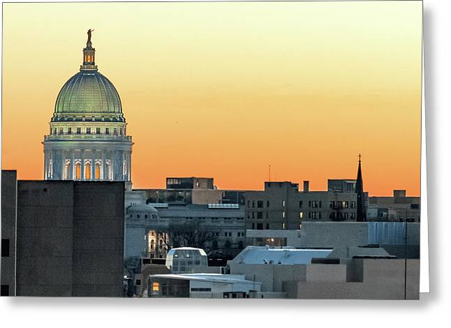 City Surrounds It Greeting Card