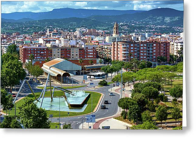 Cityscape In Reus, Spain Greeting Card