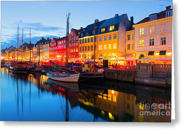 Cityscape Of Copenhagen At A Summer Greeting Card