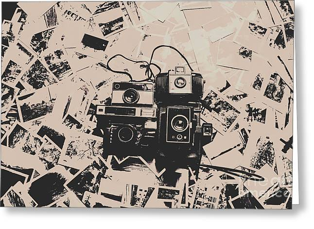 Classic Cameras And Captures Greeting Card