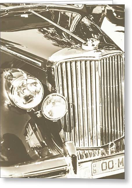 Classic Car Chrome Greeting Card