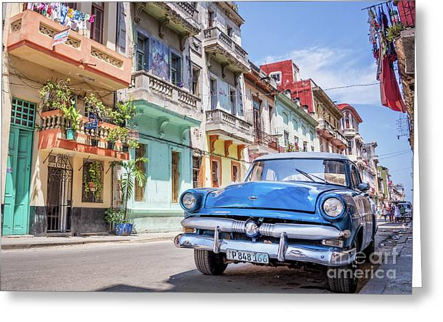 Classic Car Havana 8x10 Greeting Card