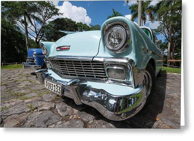 Classic Cuban Chevy Greeting Card