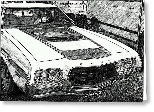 Classic Ford Sketch Greeting Card