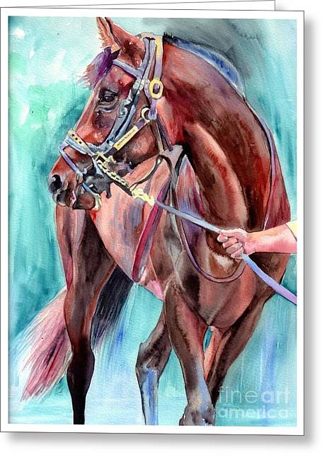Classical Horse Portrait Greeting Card