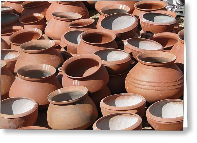 Clay Pots  For Sale In Chatikona  Greeting Card