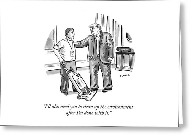 Clean Up The Environment Greeting Card