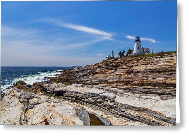 Clear Spring Day On The Coast Greeting Card