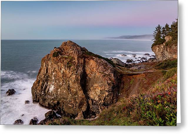Clear Sunset At Wedding Rock Greeting Card