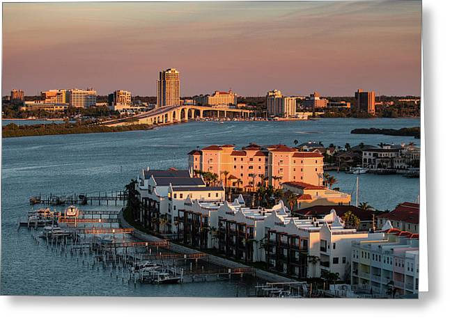 Greeting Card featuring the photograph Clearwater Evening by Jeff Phillippi