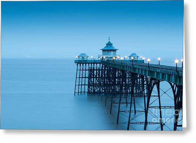 Cleve Don Pier, Early Morning Greeting Card