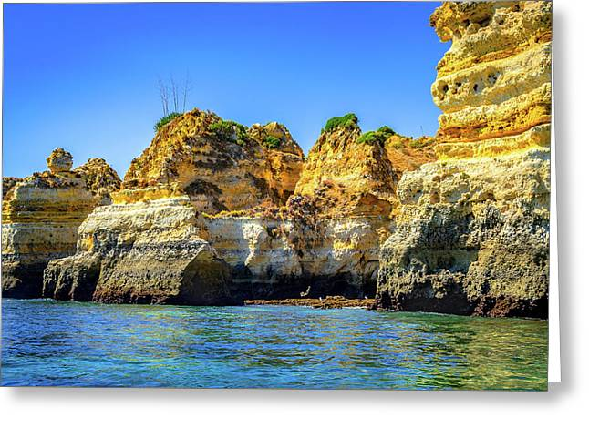 Cliff Of Lagos I Greeting Card