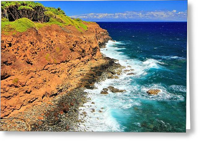 Cliff On Pacific Ocean Greeting Card