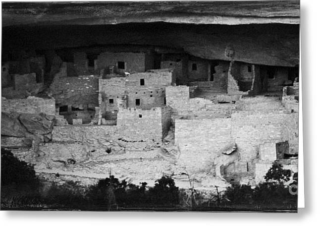 Greeting Card featuring the photograph Cliff Palace In Black And White by Jon Burch Photography