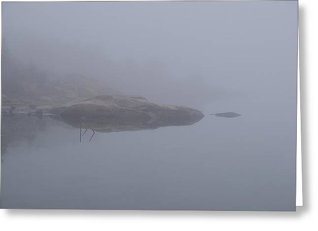 Cliffs In Fog Greeting Card