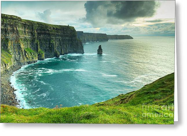 Cliffs Of Moher At Sunset, Co. Clare Greeting Card