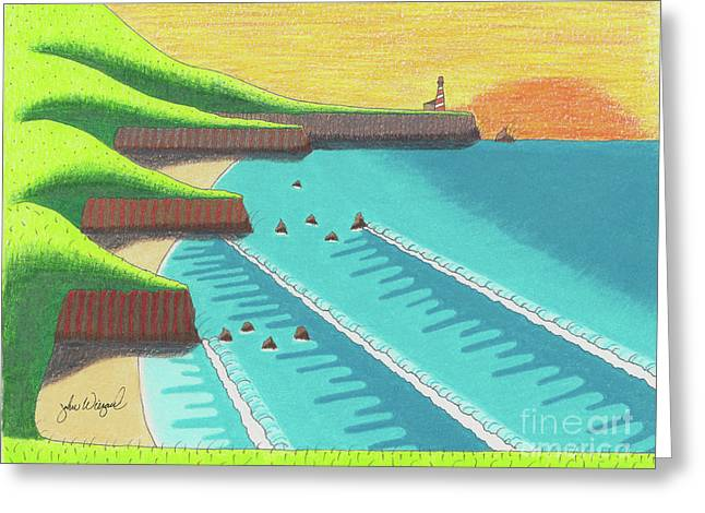 Cliffside Sunset  Greeting Card