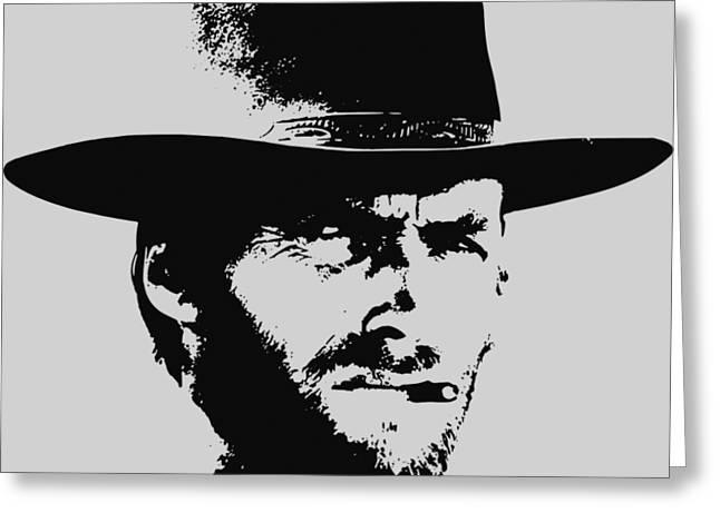 Clint Eastwood Minimalistic Pop Art Greeting Card
