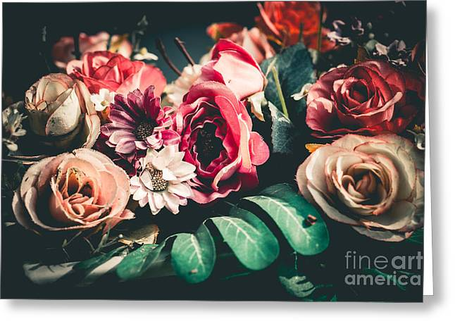 Close Up Colorful Bunch Of Beautiful Greeting Card
