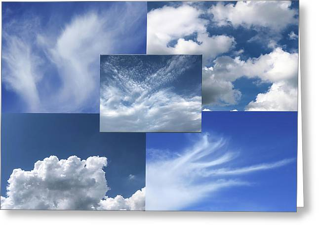 Cloud Collage Two Greeting Card
