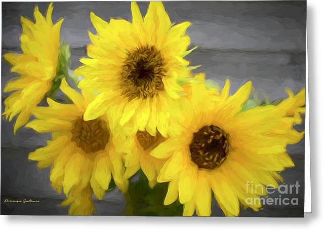 Cloud Of Sunflowers Greeting Card