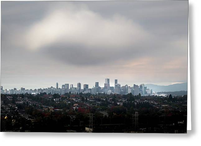 Cloud On Vancouver  Greeting Card