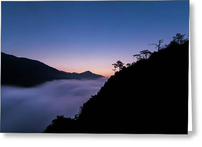 Cloud River Twilight Greeting Card