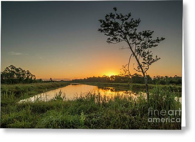 Cloudless Hungryland Sunrise Greeting Card