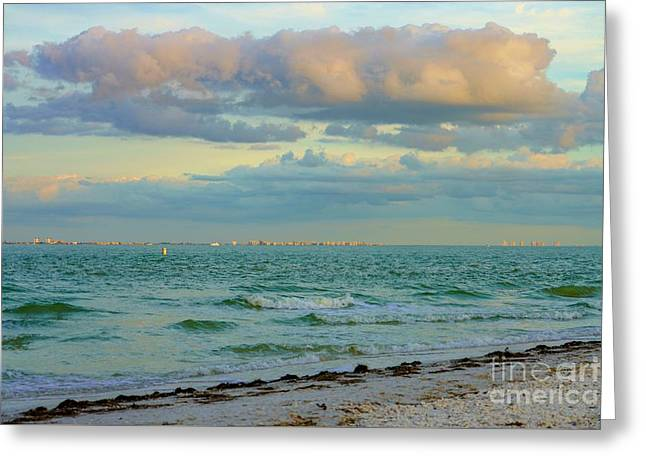 Clouds Over Sanibel Beach Greeting Card