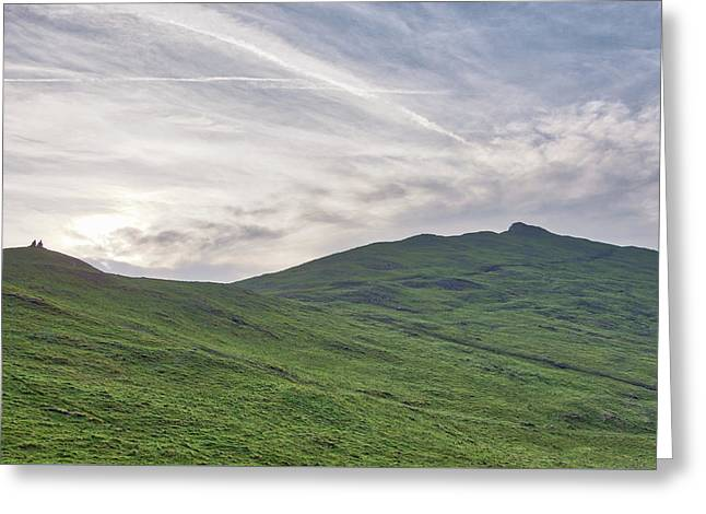 Clouds Over Thorpe Cloud Greeting Card