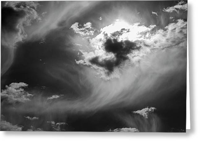 Greeting Card featuring the photograph Cloudscape Xxv Bw by David Gordon
