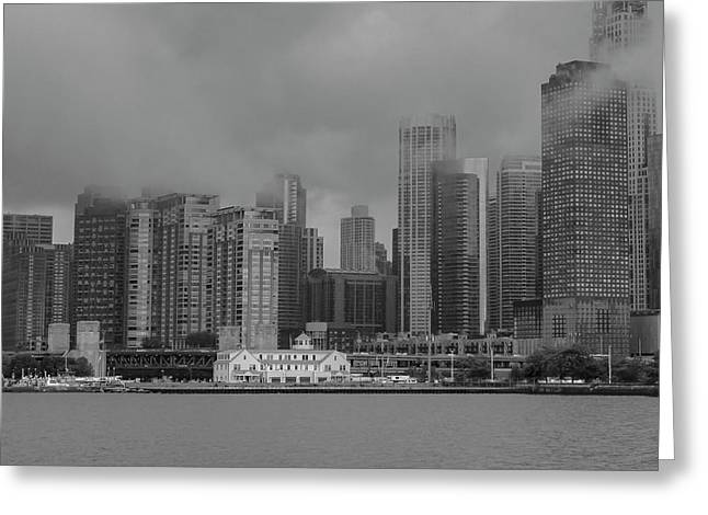 Cloudy Skyline Greeting Card