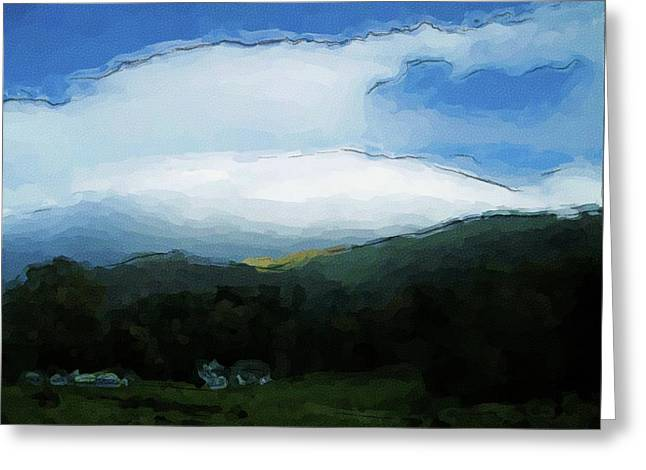 Cloudy View Painting Greeting Card