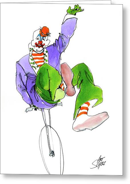 Clowns Greeting Card by Art Scholz